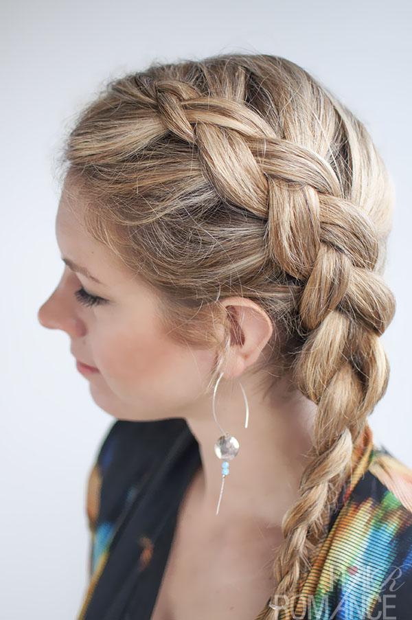 Dutch side braid hairstyle