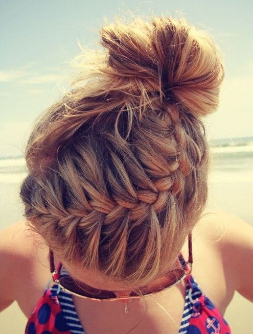 French braid updo Hairstyle for 2015