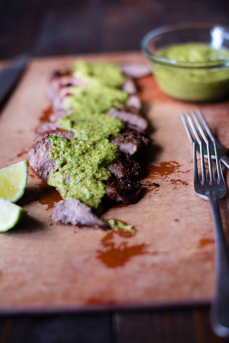 7 Flank Steak With Chimichurri Sauce