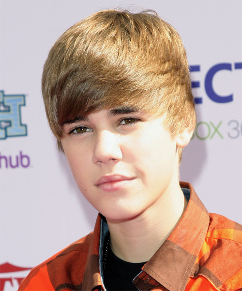 Justin Bieber Short Straight Casual Hairstyle