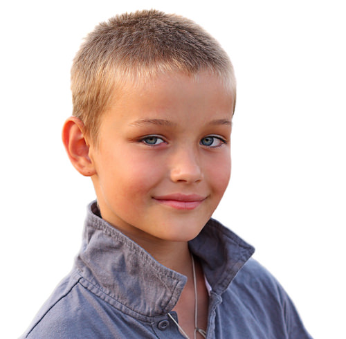 Short Simple Kids Hairstyle