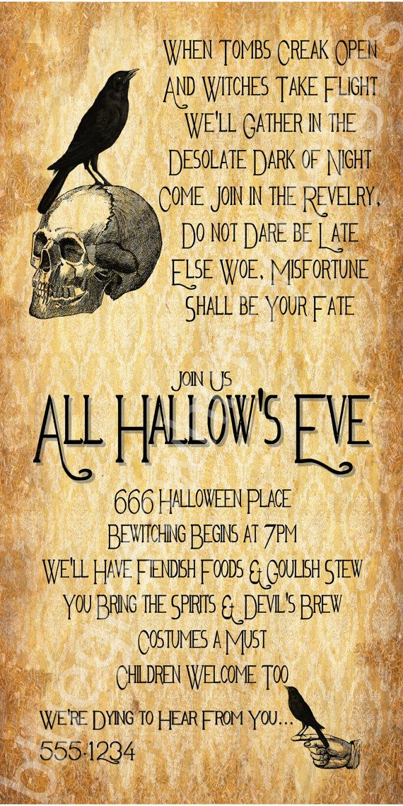All Hallow's Eve Halloween Party Invitation