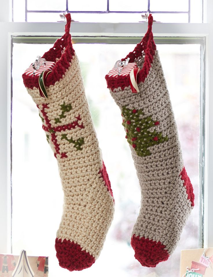 Bernat Cross Stitch Stockings - Patterns