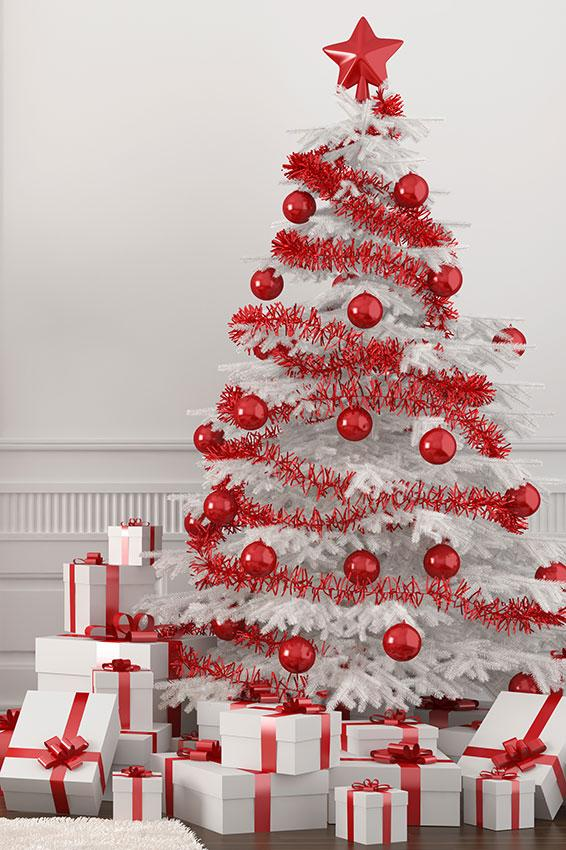 8 Red and white tree