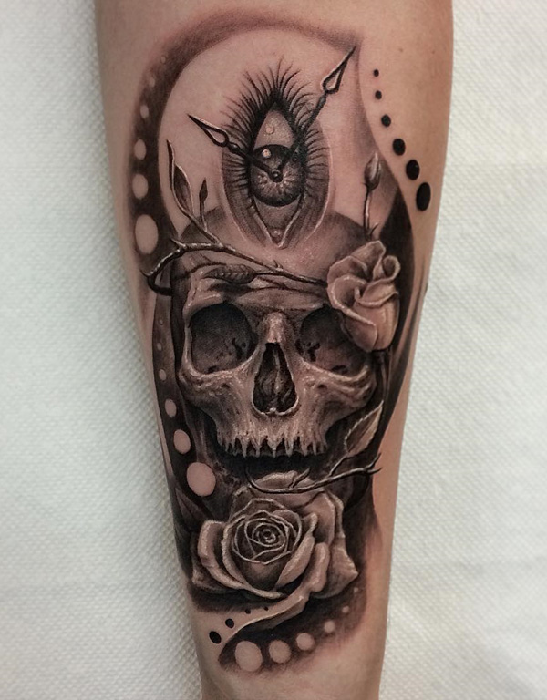 81-3D-skull-with-rose-tattoo