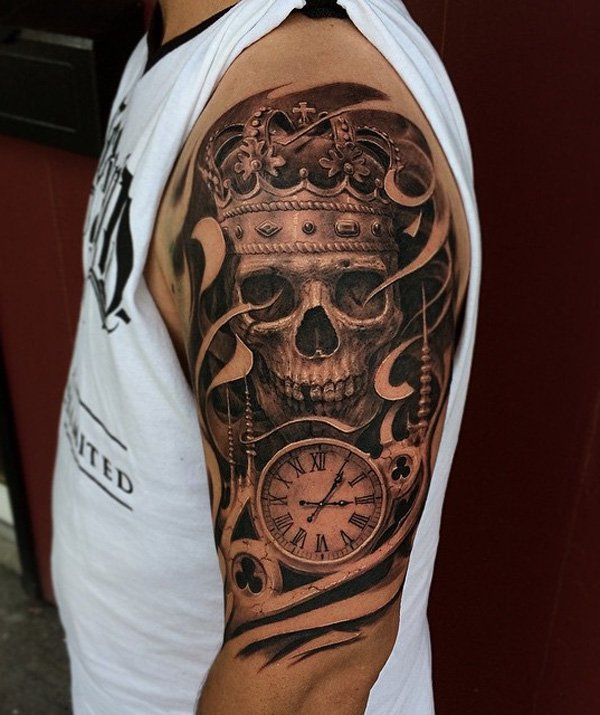 83-3D-Skull-with-witch-tattoo