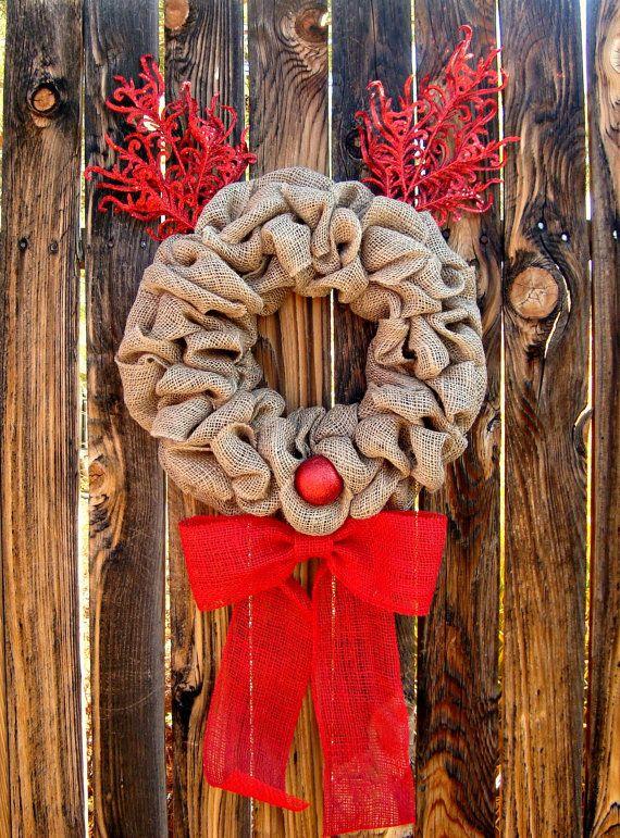 Reindeer Christmas Wreath