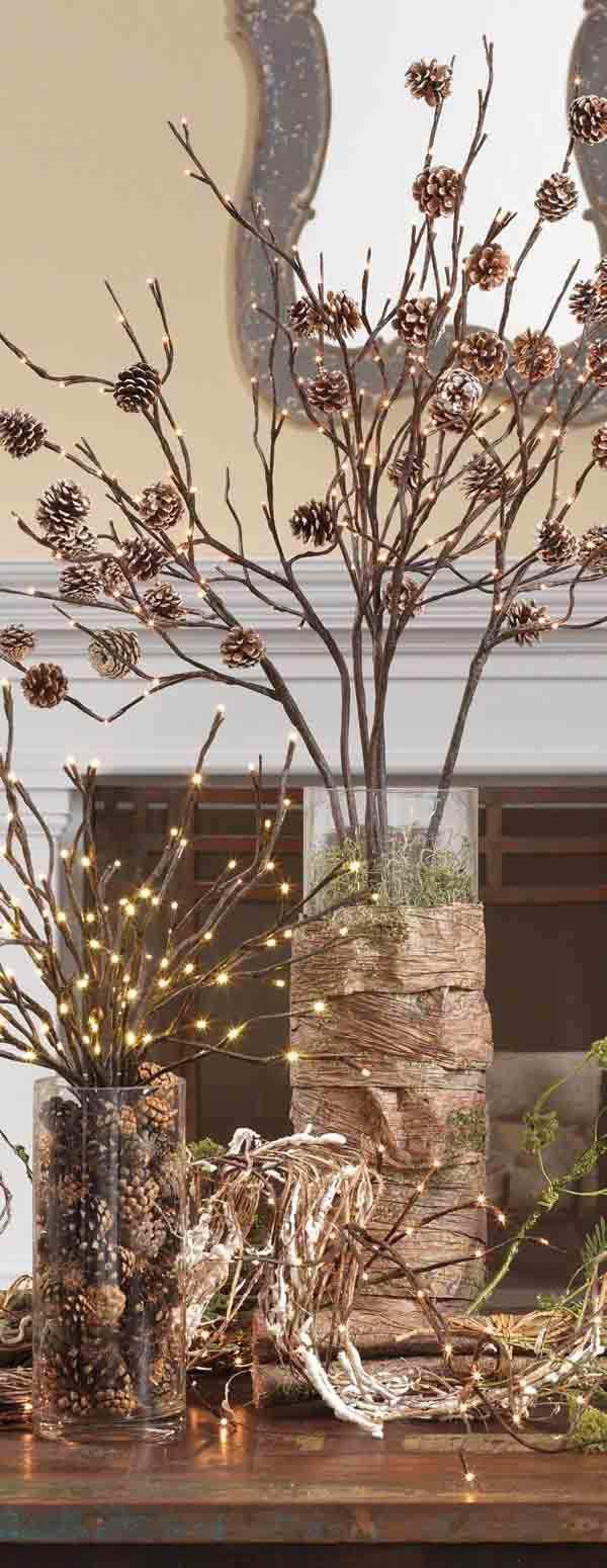 rustic-christmas-decorations-with-lights