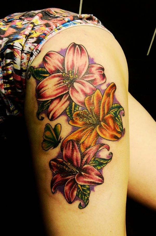 Flower Tattoos Designs Ideas And Meaning: Lily Flower Tattoo Design Ideas