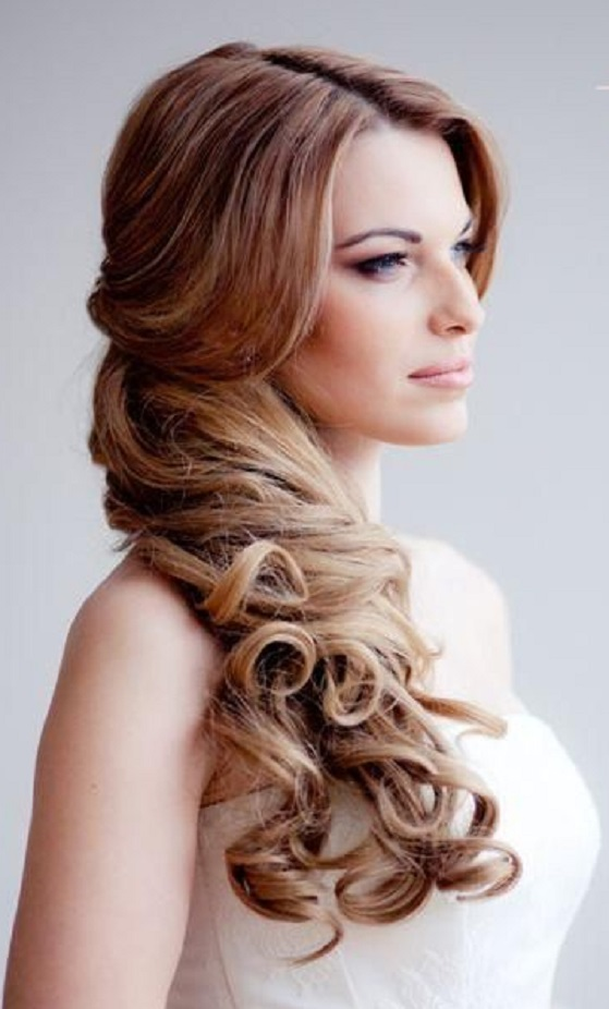 Hairstyles For Long Hair Latest : Side Prom Hairstyles For Long Hair