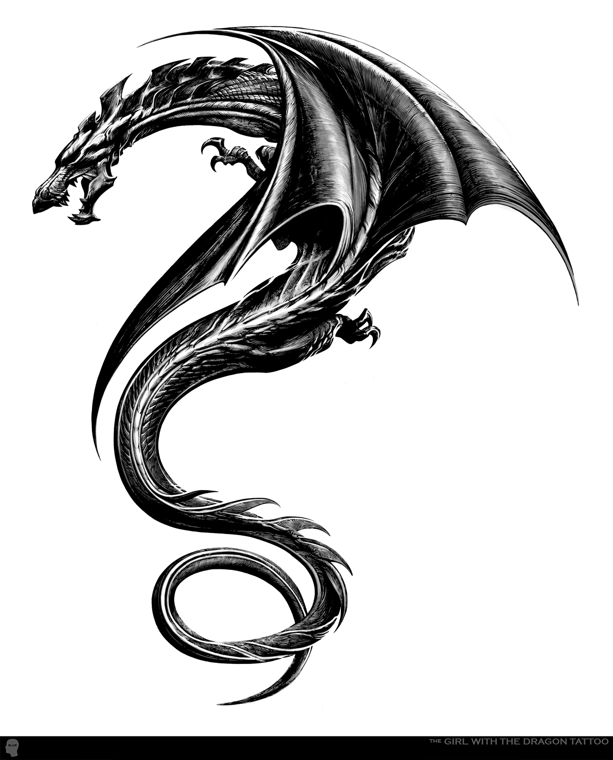 Winged Dragon Tattoo Designs