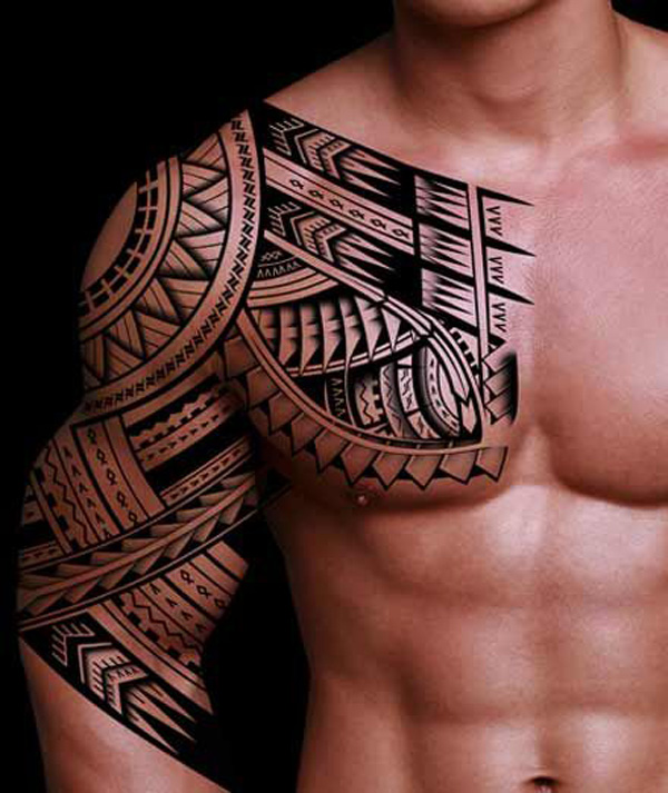 tribal tattoo idea for men