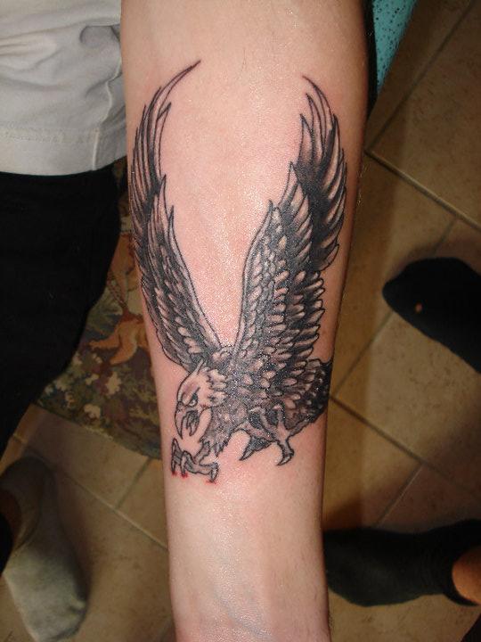 Eagle Tattoo On Forearm