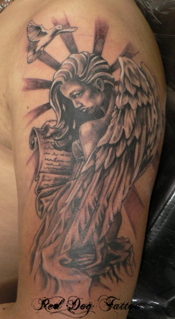 Holy Angel Tattoo Designs images