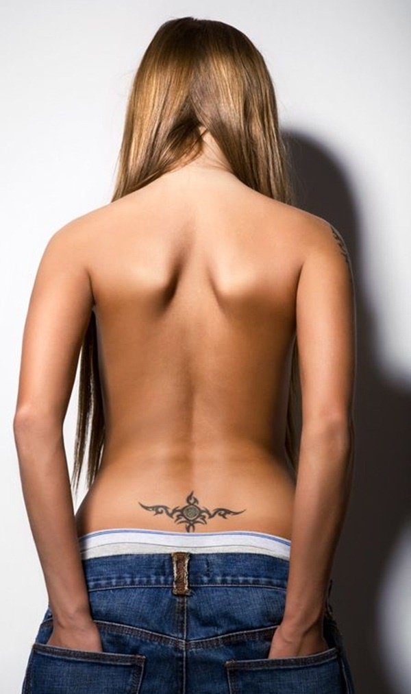 Lower Back Tattoo Design for Women