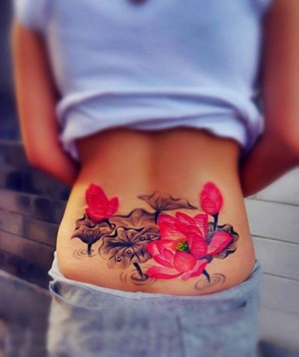 Lower Back Tattoo Designs for Women 2016