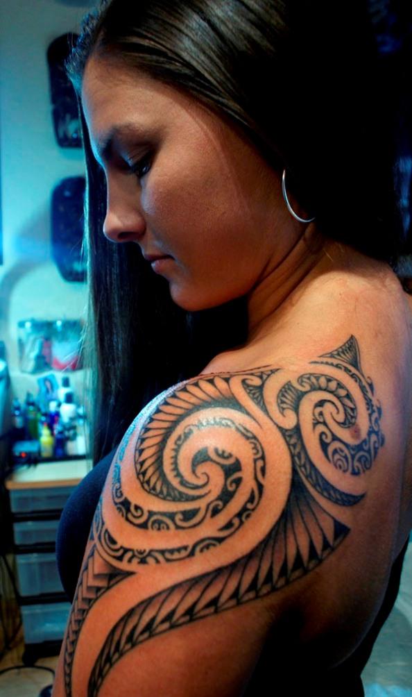 Samoan Maori Women Tattoos