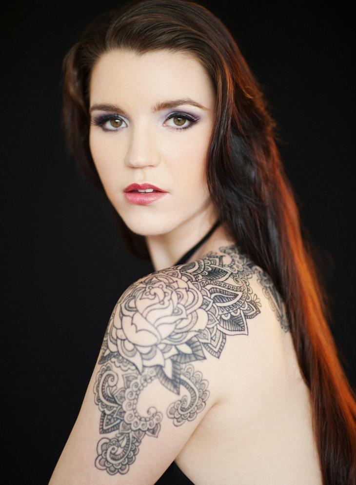 Shoulder Sleeve Tattoos Women