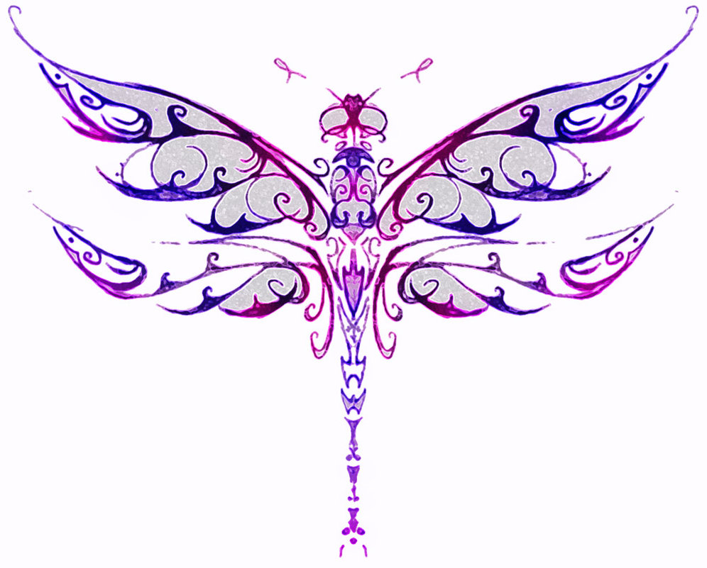 Stunning Dragonfly Tattoo Design