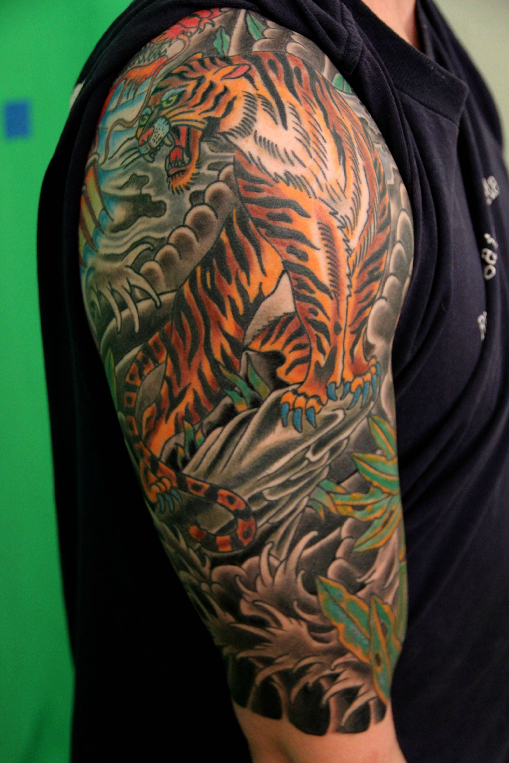 Traditional Japanese Half Sleeve Tattoo