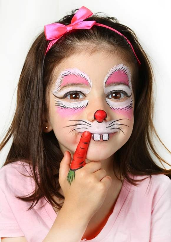 Kid Bunny Makeup for Halloween
