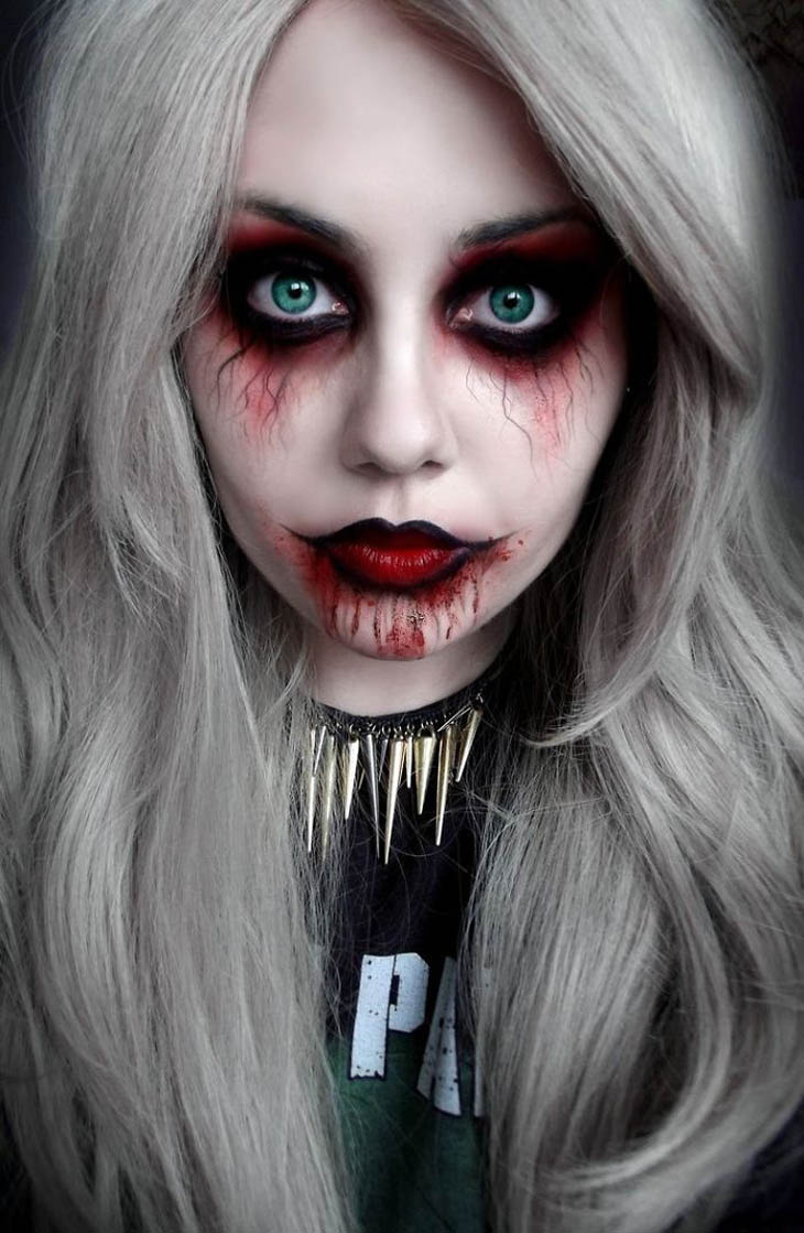 Vampire Girl Halloween makeup