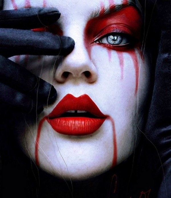 best halloween witch make up ideas gothic black red